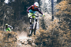Biking as extreme and fun sport. Stock Photography