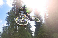 Biking as extreme and fun sport. Royalty Free Stock Photography