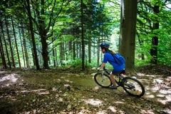 Biking ativo dos povos Imagem de Stock Royalty Free