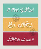 Biking banner set bicycle concept motivation quote stock photo