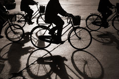 Biking in bejing Royalty Free Stock Images