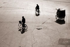 Biking in bejing Stock Photography
