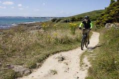 Biking Bretagne Royalty-vrije Stock Foto's