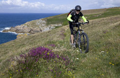 Biking in Brittany Royalty Free Stock Photo