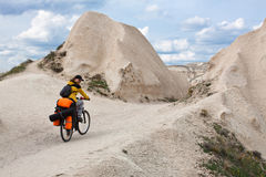 Biking in Cappadocia. Royalty Free Stock Photography
