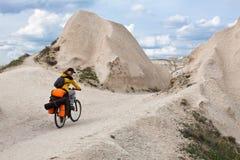 Biking in Cappadocia. Royalty Free Stock Photography