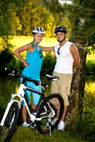 Biking couple Royalty Free Stock Image