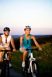 Biking couple Royalty Free Stock Photography