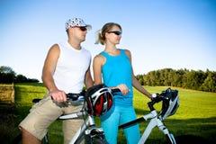 Biking couple Royalty Free Stock Photo