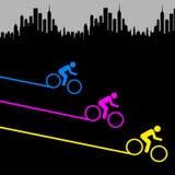 Biking da cidade ilustração stock