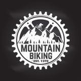 Biking da montanha Ilustração do vetor ilustração do vetor