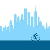 Biking della città royalty illustrazione gratis