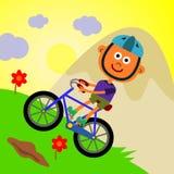 Biking della montagna illustrazione di stock