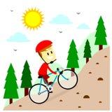 Biking della montagna Immagini Stock