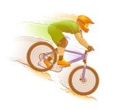 Biking della montagna illustrazione vettoriale