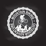 Biking della montagna Illustrazione di vettore illustrazione di stock