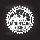 Biking della montagna Illustrazione di vettore illustrazione vettoriale