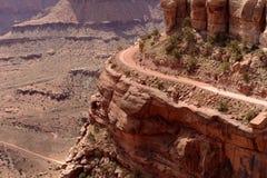 Biking on Edge of Cliff Stock Photos