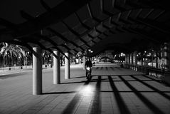 Biking em Barcelona Imagens de Stock