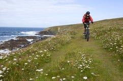 Biking em Brittany fotografia de stock