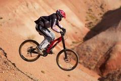 Biking estremo della montagna Immagini Stock Libere da Diritti