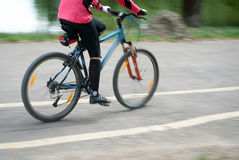 Biking Fast Royalty Free Stock Images