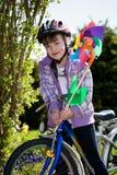 Biking girl Royalty Free Stock Photography