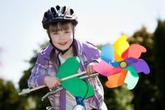 Biking girl Stock Photos