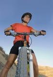 Biking girl Stock Photo