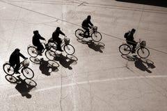 Biking in het bejing royalty-vrije stock afbeelding