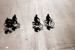 Biking in het bejing Stock Afbeelding