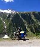 Biking in the Himalayas Stock Photography