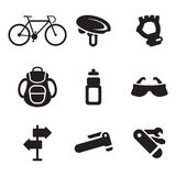 Biking Icons Royalty Free Stock Image