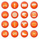 Biking icons vector set Royalty Free Stock Photo