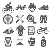 Biking icons Stock Images