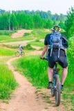Biking on impassability to a nice   day Stock Photo