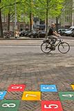 Biking In The City Royalty Free Stock Image