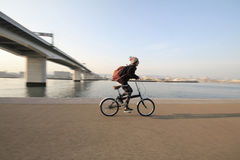 Biking Japan Royalty Free Stock Photography