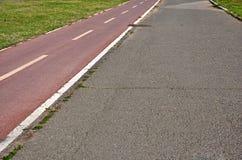 Biking lane Royalty Free Stock Image