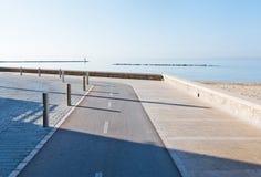 Biking lanes boardwalk Stock Photo