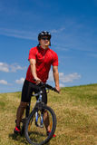Biking man 1 Royalty Free Stock Image