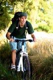 Biking man Stock Photo