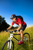 Biking man Royalty Free Stock Photos