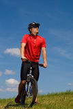 Biking man Royalty Free Stock Photography