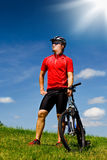 Biking man Royalty Free Stock Images