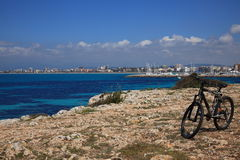 Biking mediterraneo Immagine Stock Libera da Diritti