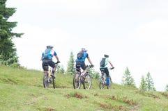 Biking at the mountain royalty free stock image