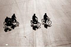 Biking nel bejing Immagine Stock