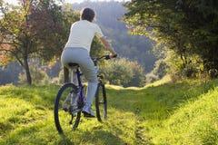Biking outdoors Stock Photo