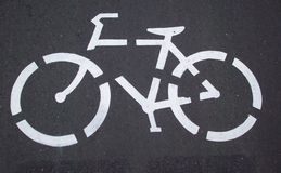 Biking Path Icon Stock Image
